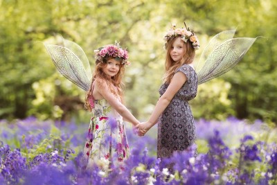 Fairy Photo shoot in the bluebell woods