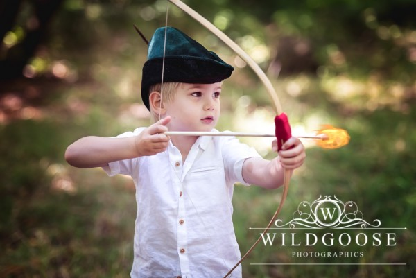 Robin Hood styled children's mini photo shoot