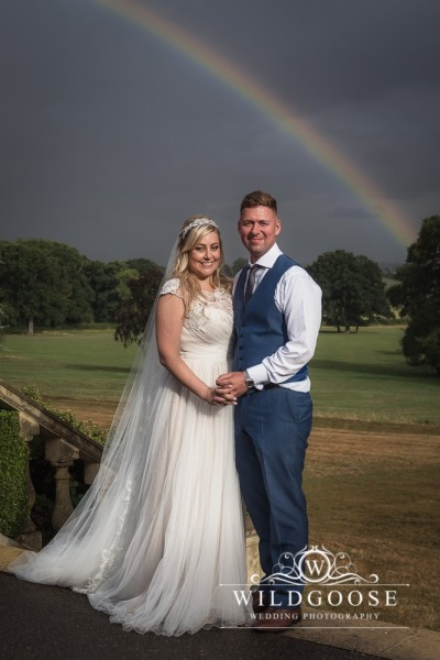 Rainbow wedding photo